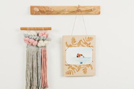 Drewniana ramka na zdjęcia