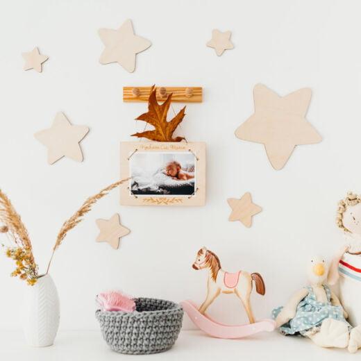 Drewniane naklejki na ścianę