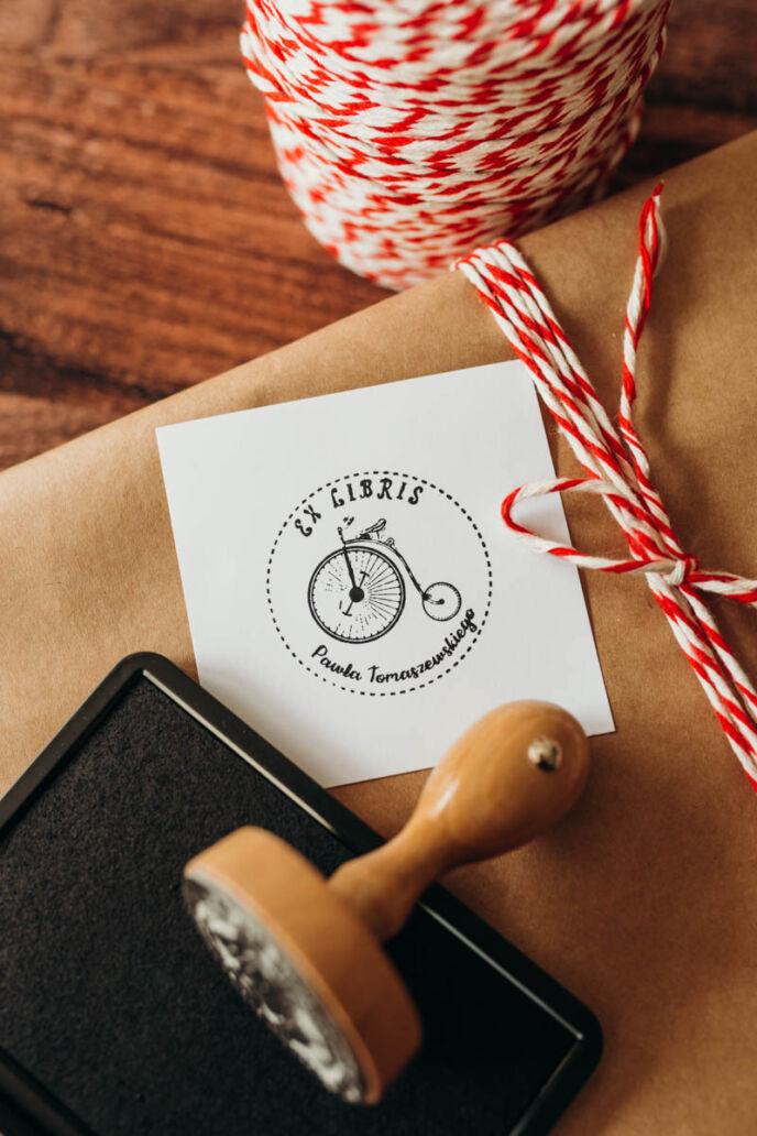 Stempel Ex Libris Bicykl