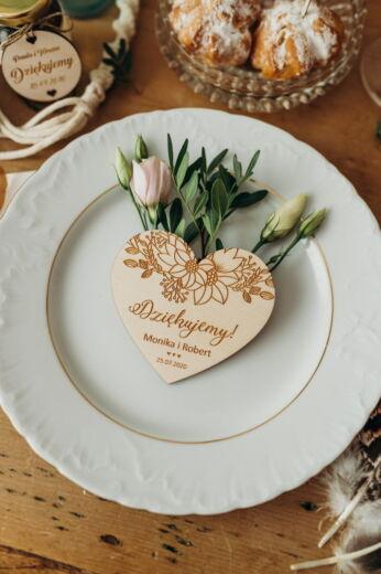 Magnesy ślubne Podziękowania dla gości weselnych